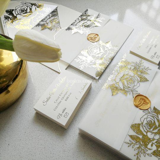 Foil gold design