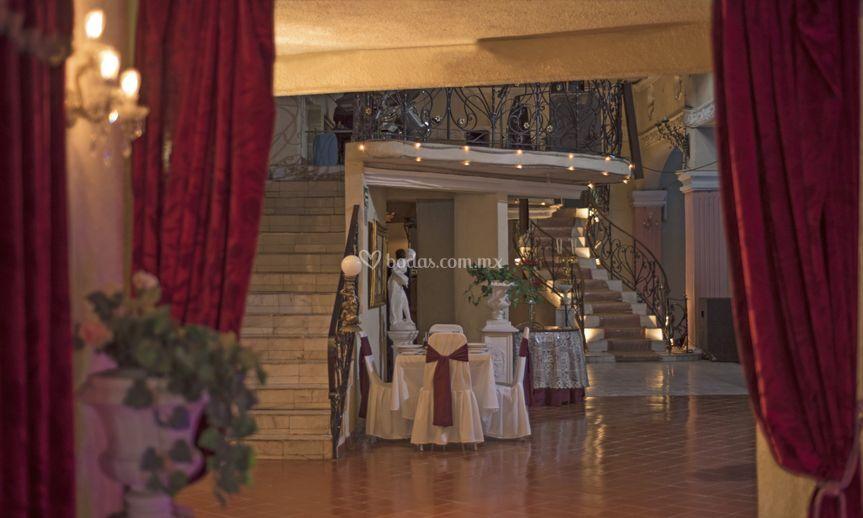 Lobby y entrada de Salón Concordia