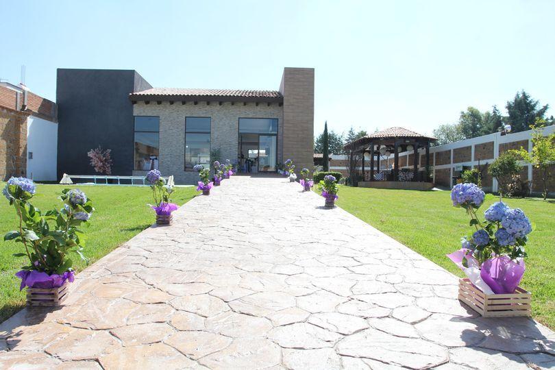 Fachada del sal n de jard n wynn fotos for Jardin wynn