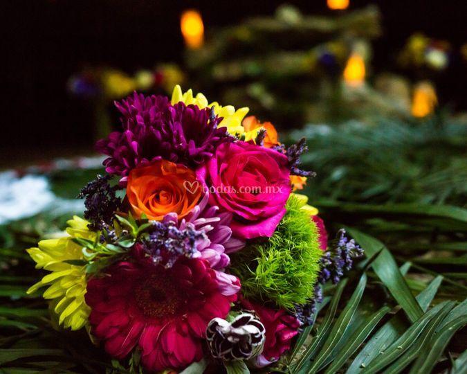 Ramo de novia boda maya