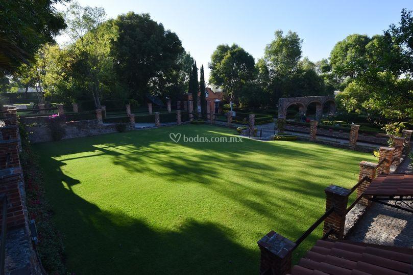 Jardín para 180 pers.