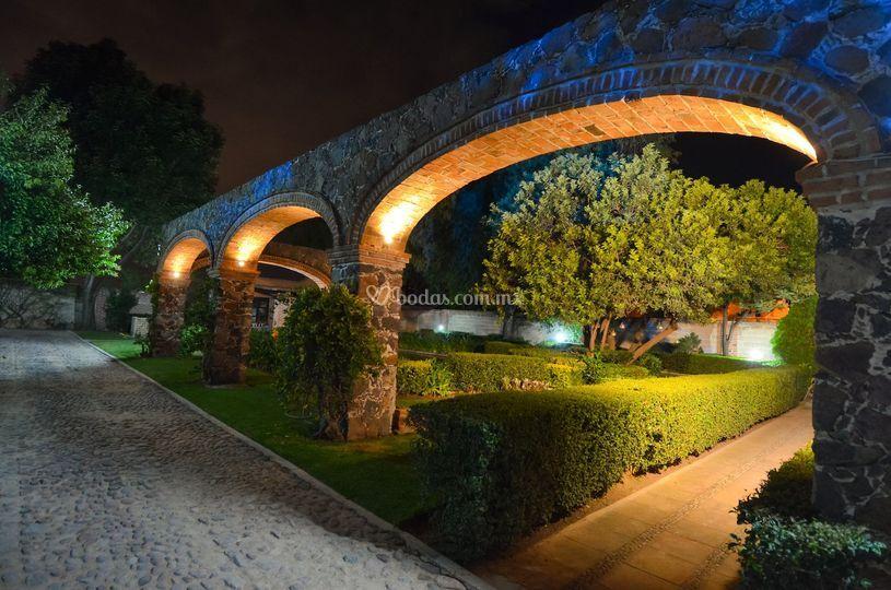 Arcos iluminados