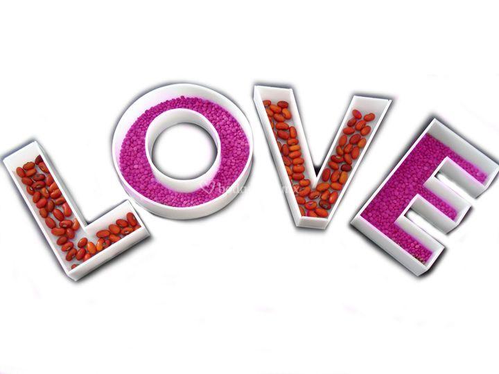 Platos LOVE (cualquier letra)