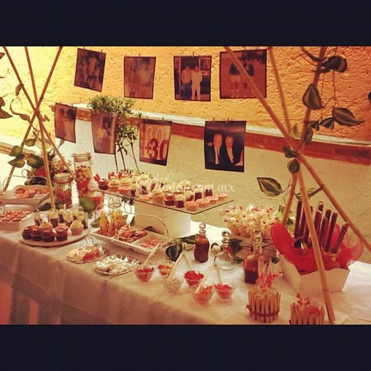 Dessert table-fiesta tema