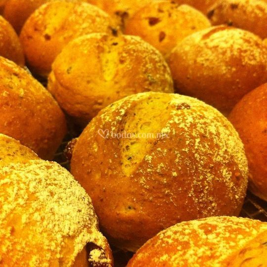 Pan de centeno con arándanos