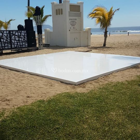 Pista Charol Blanco