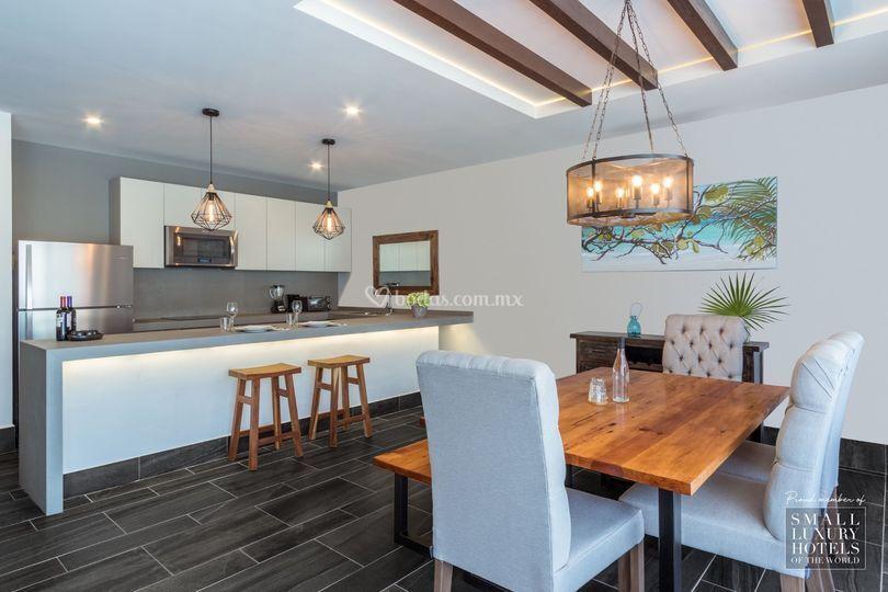 Habitación suite con cocina