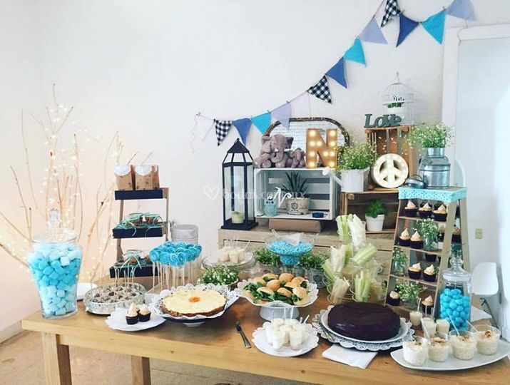 candy bar para baby shower para ti catering