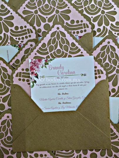 Invitaciones papel picado