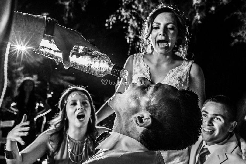Diversión en una boda