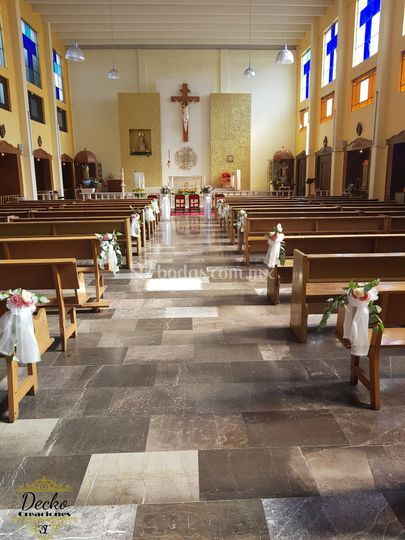 Arreglos iglesia plata