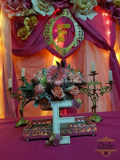 Mesa de dulces princess