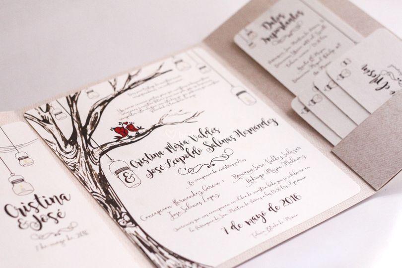 Invitación boda country