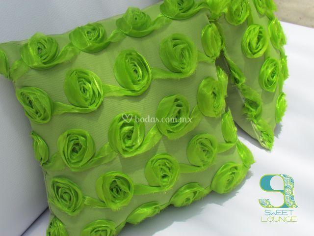 Cojines verdes