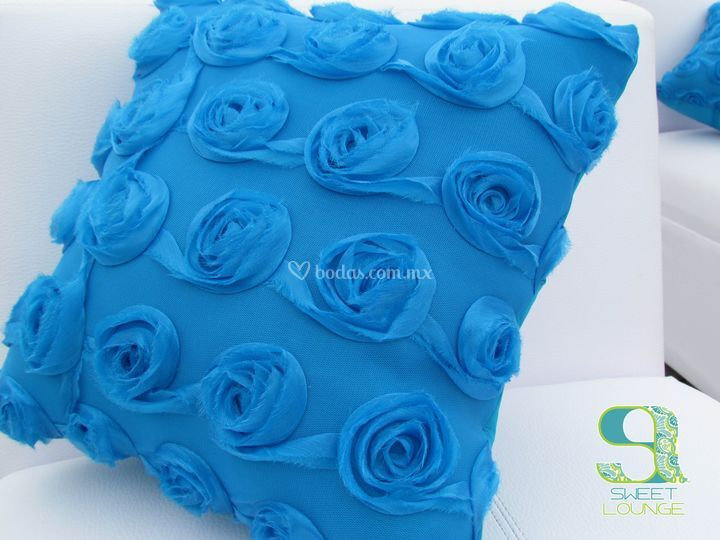 Cojines azules