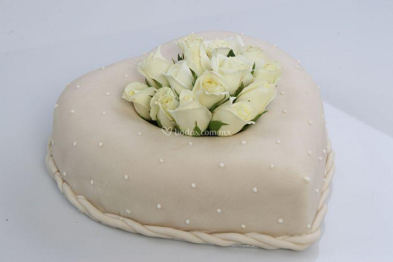 Pastel de boda pequeño