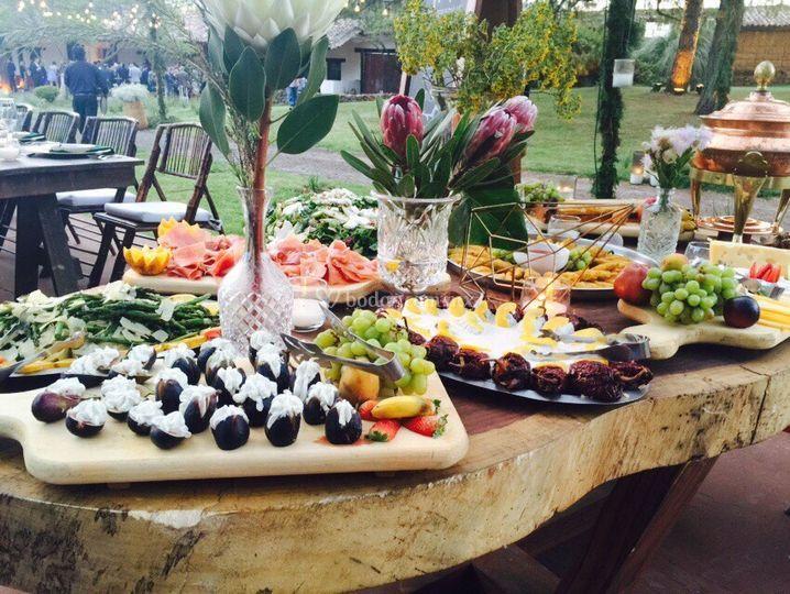 Presentación de buffet