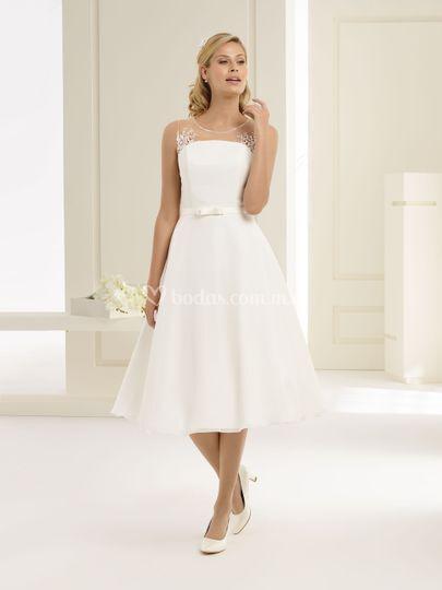 Vestido corto boda civil