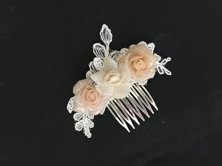 Rosas y encaje & plata