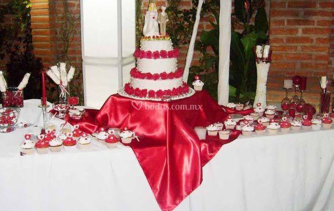 Mesa de postre para boda