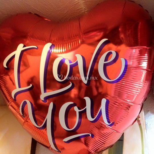 Corazón gigante i love you