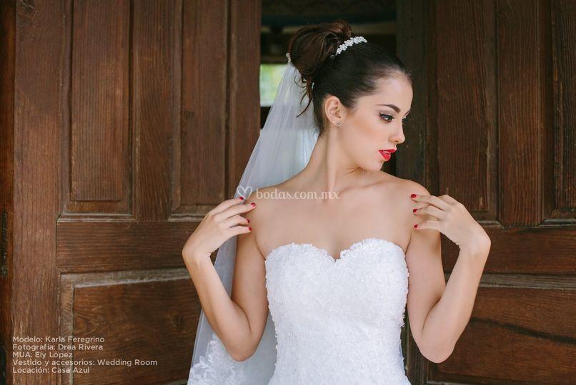 Vestido novia escote corazón