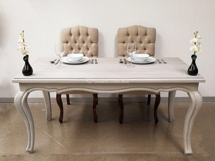 Mesa vintage sillas antonellas