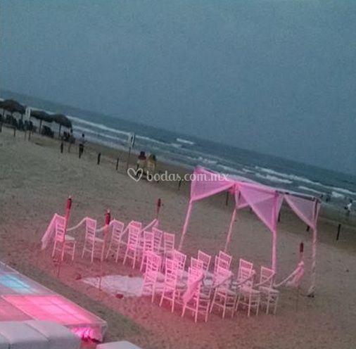 Ceremonias frente al mar