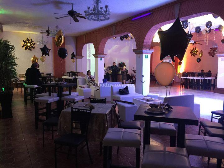 Salón arcos estilo lounge