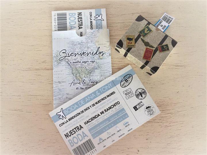 Invitación mapamundi