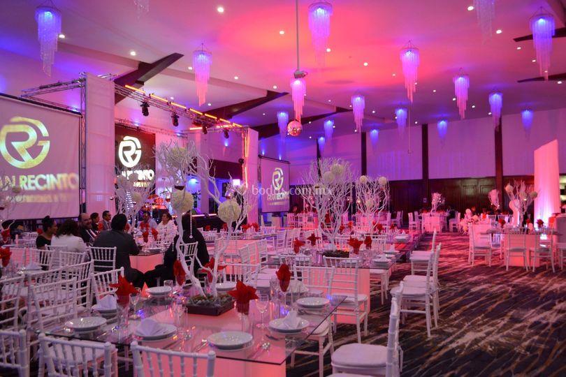 Montaje boda rojo
