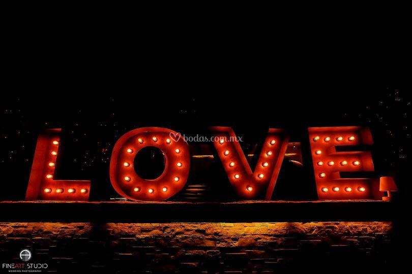 Letras love terraza