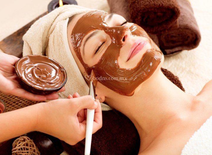 Chocolaterapia facial