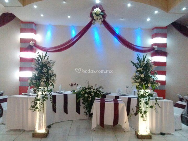 Salón  decoración en vino