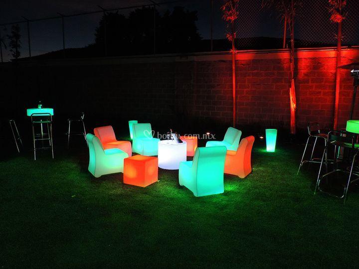 Mobiliario lounge jardín