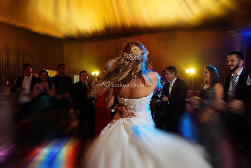 Bride rockin'
