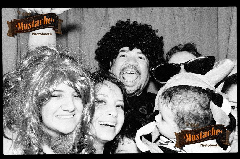 The old mustache photobooth