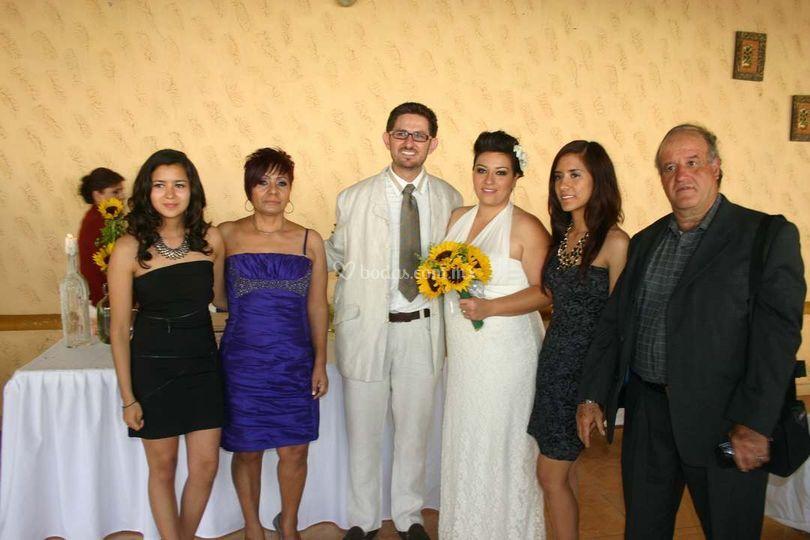 Familia de los novios