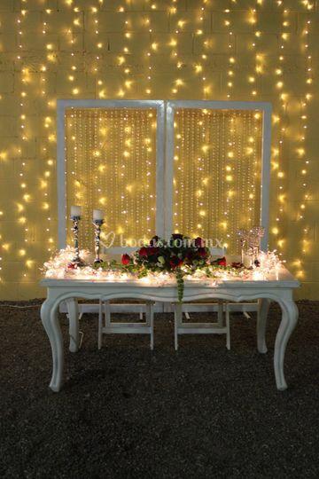 Mesa para novios
