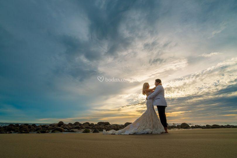 Sesión de foto en playa