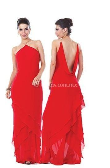 Vestido Rojo De Vestidos Toluca Foto 5