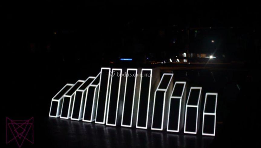 DJ booth con animación 3D
