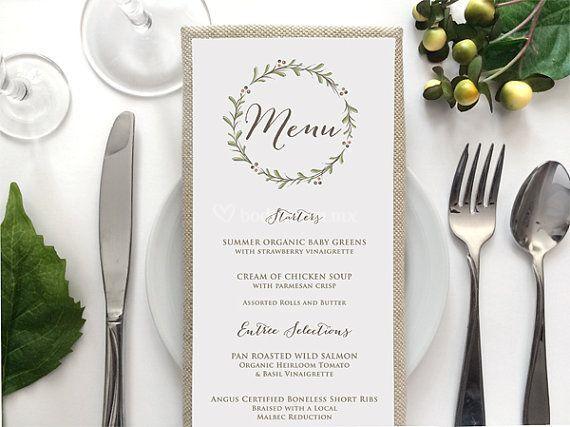 Menú para cada invitado