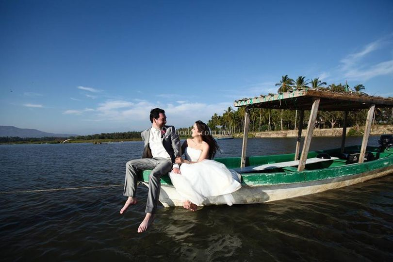 Maquillaje trash the dress