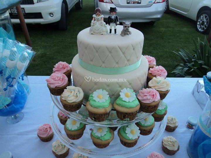 Pastel de boda Fondant