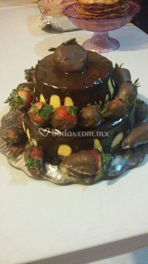 Fresas cubiertas con chocolate