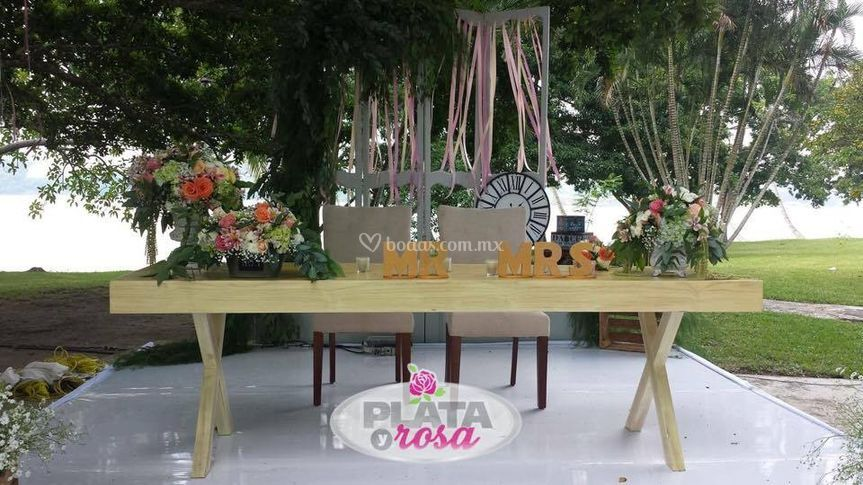 Mesa de Honor vintage natural