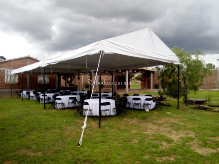 Delta carpas mobiliario for Carpa comida