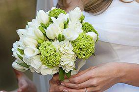 Ramo de tulipanes y hortensias