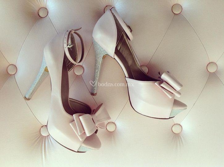 Zapato de novia personalizado